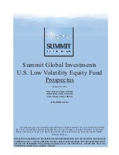 Sgi U.S. Low Volatility Equity Fund...
