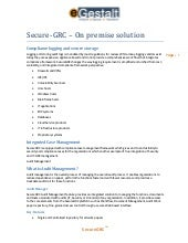 Secure-GRC – On premise solution
