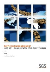 Supply Chain Management: How Well Do You Know Your Supply Chain?