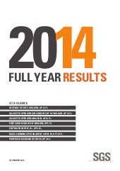 SGS 2014 Full Year Results