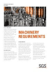 Machinery Requirements