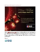 SGS Technologie LLC wishing you a happy holiday week!