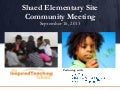 Shaed Community Meeting Presentation