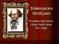 Shakespeare web quest
