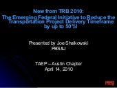 New From TRB 2010: The Emerging Fed...