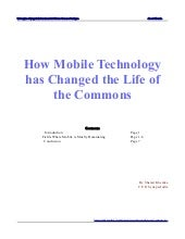 Shamit khemka discusses how mobile technology has changed the life of the commons