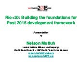 Shaping post 2015 framework at rio ...