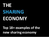 Shared economy - Collaborative consumption - The sharing economy