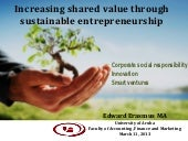Shared Value and Sustainable Entrep...