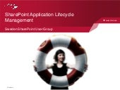 SSUG: SharePoint Application Lifecy...