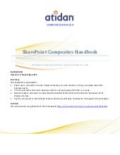 SharePoint 2013 Composites from Microsoft and Atidan