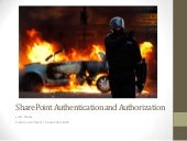 SharePoint Authentication And Autho...