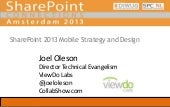 SharePoint 2013 Mobile Strategy and...