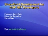 SharePoint Development For Asp Net ...