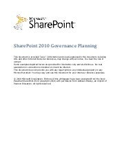 SharePoint Governance Planning - Mi...