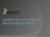 SharePoint 2010 and its development...