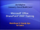 Share Point  Server 2007ù Workflows...