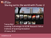 Sharing out to the world with iTunes U
