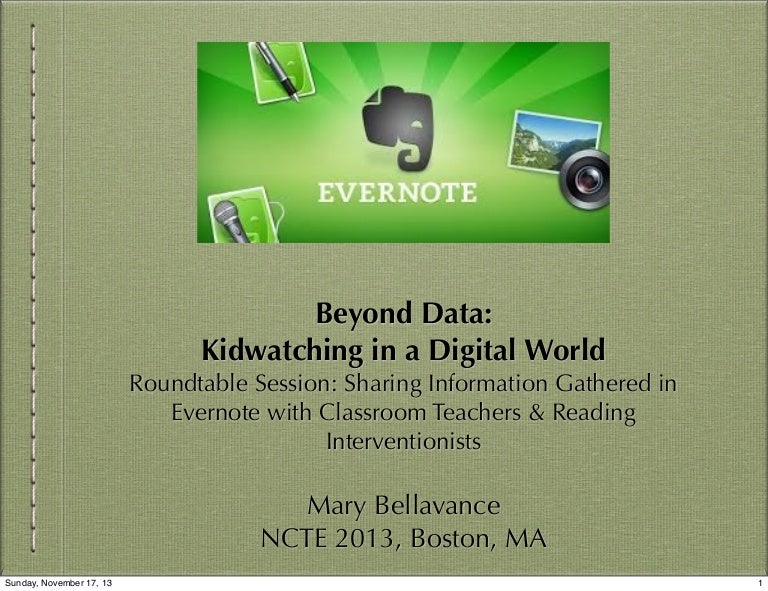 Sharing with Evernote Roundtable NCTE 2013