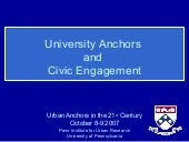 University Anchors and Civic Engage...