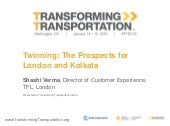 Twinning: The Prospects for London and Kolkata - Transforming Transportation 2016