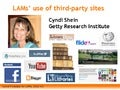 Libraries, Archives, and Museums Use of Social Media Sites, by Cyndi Shein, 2012