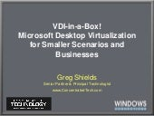 VDI-in-a-Box:  Microsoft Desktop Vi...