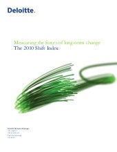 Deloitte. Shift Index 2010 - Import...