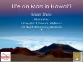 """Life on Mars in Hawaii"" at 2013 Ig..."