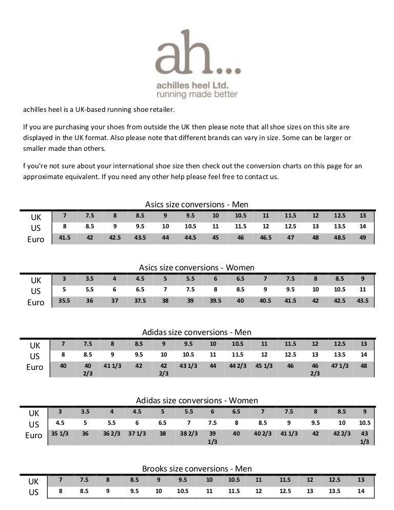 Adidas Shoe Size Conversion Chart Running Shoe Size Conversion