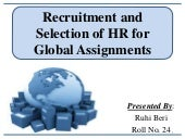 Recruitment and Selection of HR for...