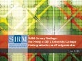 Shrm survey findings   the hiring of 2012 university grads