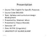syllabus design  for M.Ed, M.Phil L...