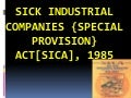 Sica industrial companies {special provision} act[sica