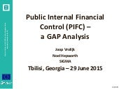 SIGMA Powerpoint Presentation of the PIFC Gap Analysis 29 june 2015