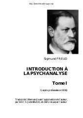 Sigmund  Freud    Introduction A La...