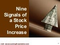 Signals of a Stock Price Increase