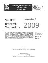 Siguse 2009 Symposium Program