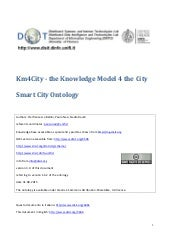 DISIT Ontology for Smart Cities KM4CITY, ver.2.1