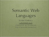 SIKS 2011 Semantic Web Languages