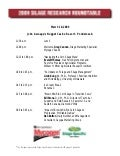 2009 Silage Research Roundtable Agenda