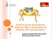 Analisis de los documentos rectores...