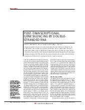 POST-TRANSCRIPTIONAL GENE SILENCING...