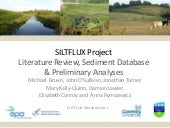Siltflux Workshop 1: Literature Review, Sediment Database & Preliminary Analyses - Anna Rymszewicz
