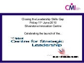 Closing the Leadership Skills Gap