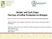Gender and Cash Crops: The Case of Coffee Production in Ethiopia