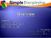 Simple Discipleship Overview