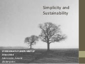 Simplicity and sustainability