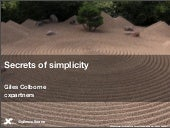 Secrets of Simplicity: rules for being simple and usable (Giles Colborne)