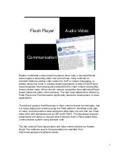 Flash-based audio and video communi...